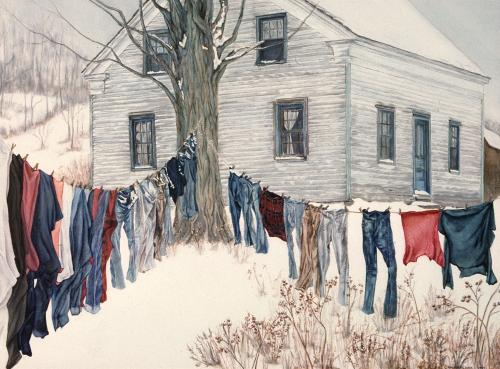 Winter Clothesline – $60