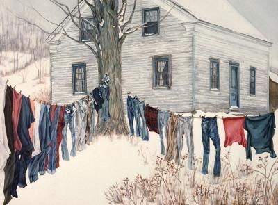 Winter Clothesline